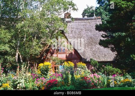 Cottage Garden in the Arboretum Ellerhoop - Stock Photo