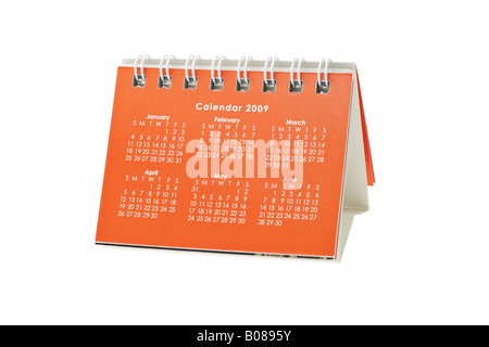 2009 desktop calendar for the months of January to June - Stock Photo