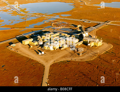 The oil industry on the North Slope of Alaska - Stock Photo