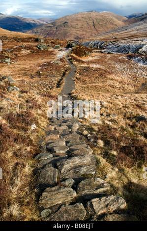 Stone path on Ben Arthur - Stock Photo