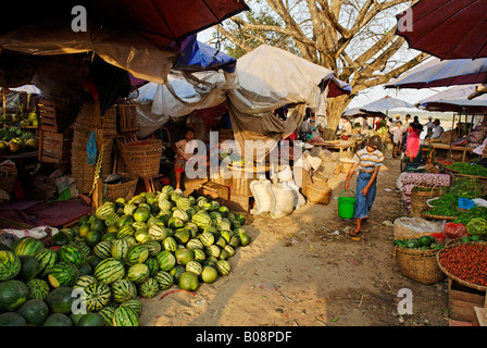 Market of Myitkyina, Kachin State, Myanmar (Burma), Southeast Asia Stock Photo