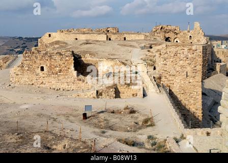 Kerak Castle, old fortress along the King's Highway in Jordan, Middle East, Asia - Stock Photo