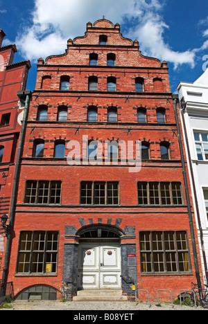 Scheele House, brick building, Stralsund, Mecklenburg-Western Pomerania, Germany, Europe - Stock Photo