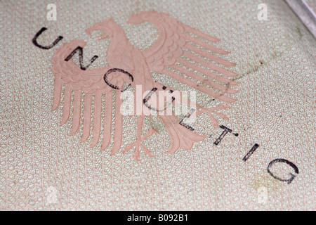 Invalid, expired German EU passport - Stock Photo