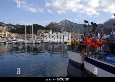 harbour of Sller, Spain, Majorca, Port De Soller - Stock Photo