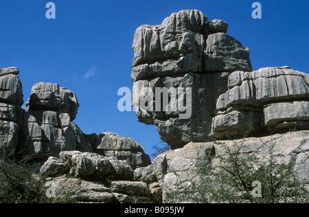 El Torcal de Antequera Nature Reserve, Málaga Province, Andalusia, Spain - Stock Photo