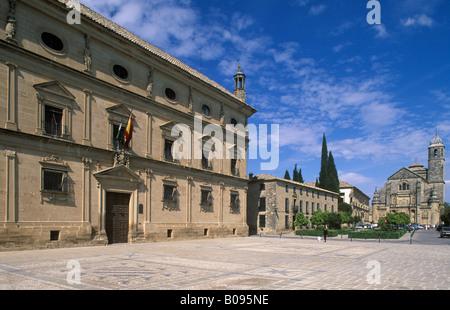 Plaza de Vázquez Molina, Las Cadenas Palace, Ubeda, Jaen, Andalusia, Spain - Stock Photo