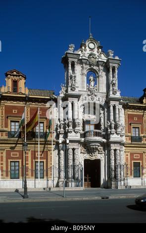 Palacio de San Telmo, Palace in Seville, Andalusia, Spain - Stock Photo
