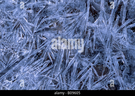 Ice crystal formations, Inn, Schwaz, Tyrol, Austria, Europe - Stock Photo