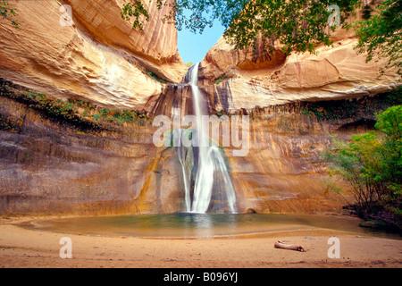 Lower Calf Creek Falls, Calf Creek Canyon, Escalante National Monument, Utah, USA - Stock Photo