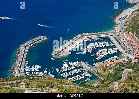 Ocean view, marina near Martea, Basilicata, Southern Italy - Stock Photo