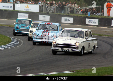 1960's touring cars giving it the beans - Stock Photo