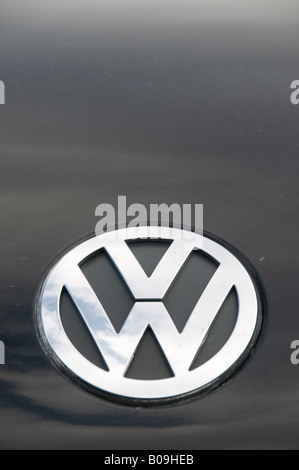 Volkswagen logo symbol on car - Stock Photo