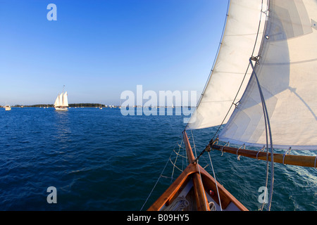 Sailing in Key West, Florida, USA - Stock Photo