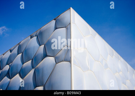 Beijing National Aquatics Center, also known as the Water Cube, built for the 2008 Summer Olympics. - Stock Photo