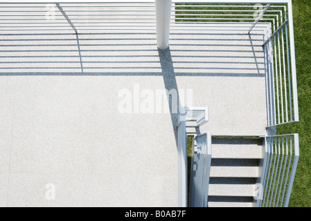 Outdoor terrace, high angle view - Stock Photo