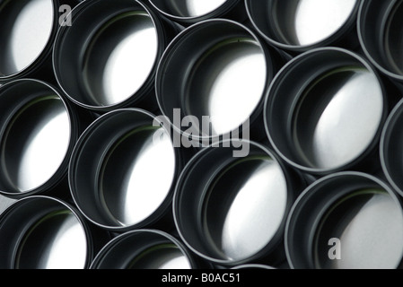 Metal containers, close-up - Stock Photo