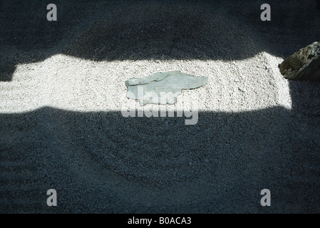 Sunlight and shadow on rock garden, close-up - Stock Photo