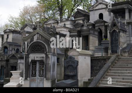 Père Lachaise Cemetery Paris France - Stock Photo