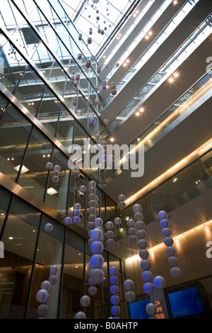Interior of the London Stock Exchange in the city of london financial district EC4, London, UK England 2008 - Stock Photo