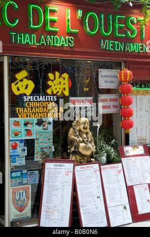 Chinese restaurant in Paris - Stock Photo