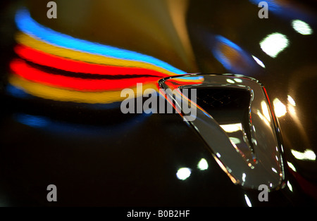 Intake port of a sports car - Stock Photo