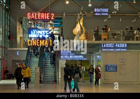 Main hall of Centre Georges Pompidou in Paris - Stock Photo