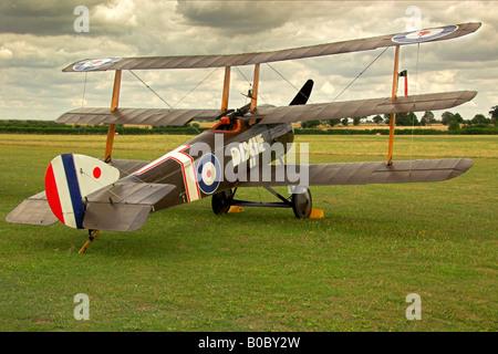 Sopwith Triplane on The Ground - Stock Photo