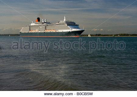 Queen Victoria Southampton Water - Stock Photo