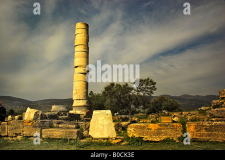 Remains of The Temple of Hera Samos - Stock Photo