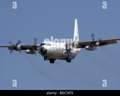 Kuwait Air Force Hercules on arrival - Stock Photo