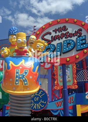 Universal Simpsons ride - Stock Photo