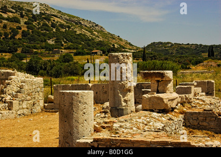 Remains Of Ancient Thermia At Pythagorian Samos - Stock Photo