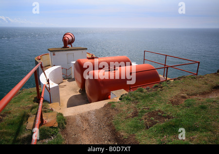 Mull of Galloway Lighthouse Fog Horn, Dumfries and Galloway, Scotland, UK - Stock Photo