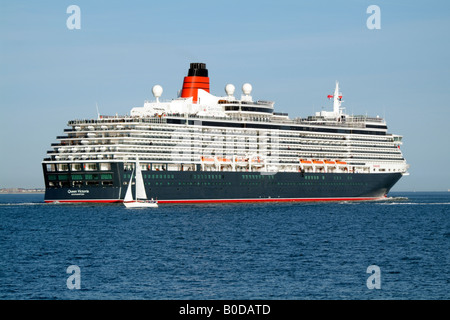 Cunard Company Cruise ship the Queen Victoria Southampton Water UK - Stock Photo