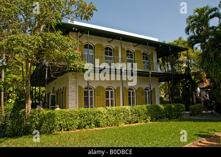 Ernest Hemingway Home and Museum in Whitehead Street in the Old Town Key West Florida USA - Stock Photo