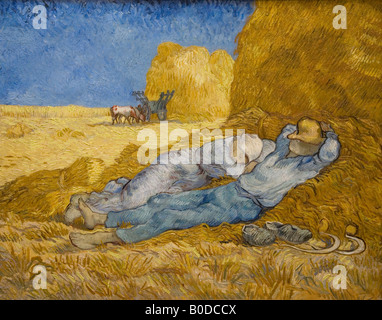 Noon Rest La Meridienne by Vincent van Gogh 1889 Musee D Orsay d'Orsay Museum and Art Gallery Paris France Europe - Stock Photo