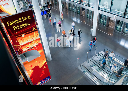 CHE CH Switzerland Zurich Kloten The Zurich airport the Skymetro station at Terminal E passengers are going to the - Stock Photo
