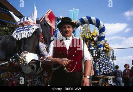 Brewer Oktoberfest Munich Bavaria Germany - Stock Photo