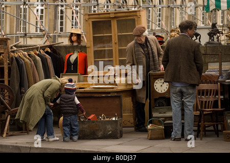 Market Stall in Bath, Somerset & Avon - Stock Photo