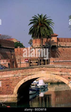 italy, tuscany, livorno, fortezza nuova - Stock Photo