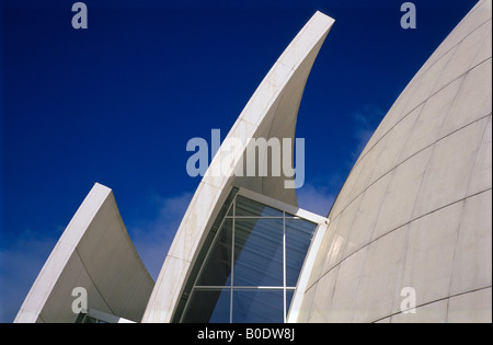 Dives in Misericordia, church of the new millenium, by the american architect Richard Meier, Rome, Lazio, Italy - Stock Photo