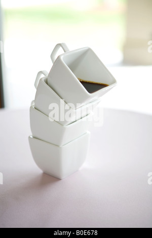 Stacked Coffee Cups - Stock Photo