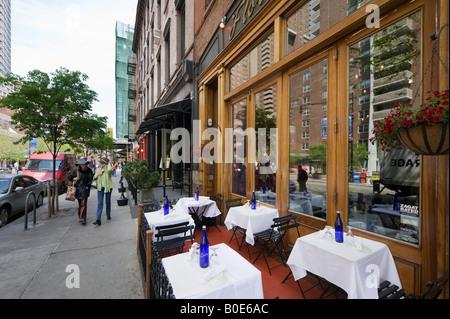 Restaurant on Greenwich Street, Tribeca, Manhattan, New York City - Stock Photo