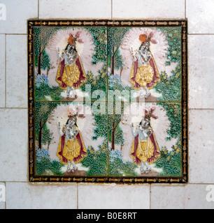Amritsar India Langa Wali Devi Hindu Temple Krishna Images On Tiles - Stock Photo