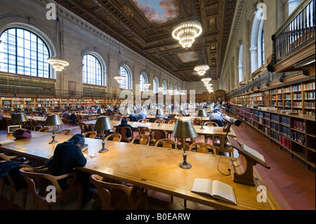 Rose Reading Rooom, New York Public Library, 5th Avenue, Midtown Manhattan, NYC, New York City - Stock Photo