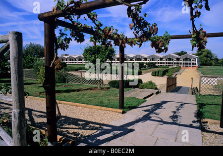 Roman Garden, Fishbourne Roman Palace and Museum near Chichester, Sussex, UK - Stock Photo