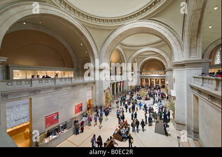 Great Hall of the Metropolitan Museum of Art, Fifth Avenue, New York City - Stock Photo
