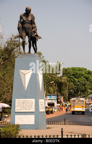 A statue of Mahatma Gandhi in Old Goa, India. - Stock Photo