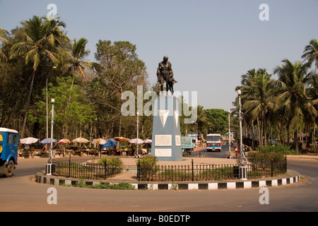 A statue of Mohatma Gandhi in Old Goa, India. - Stock Photo
